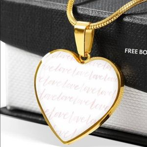 Necklace Gold Love Pendant for Mom custom Necklace
